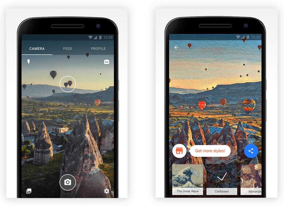 screenshot of Prisma app