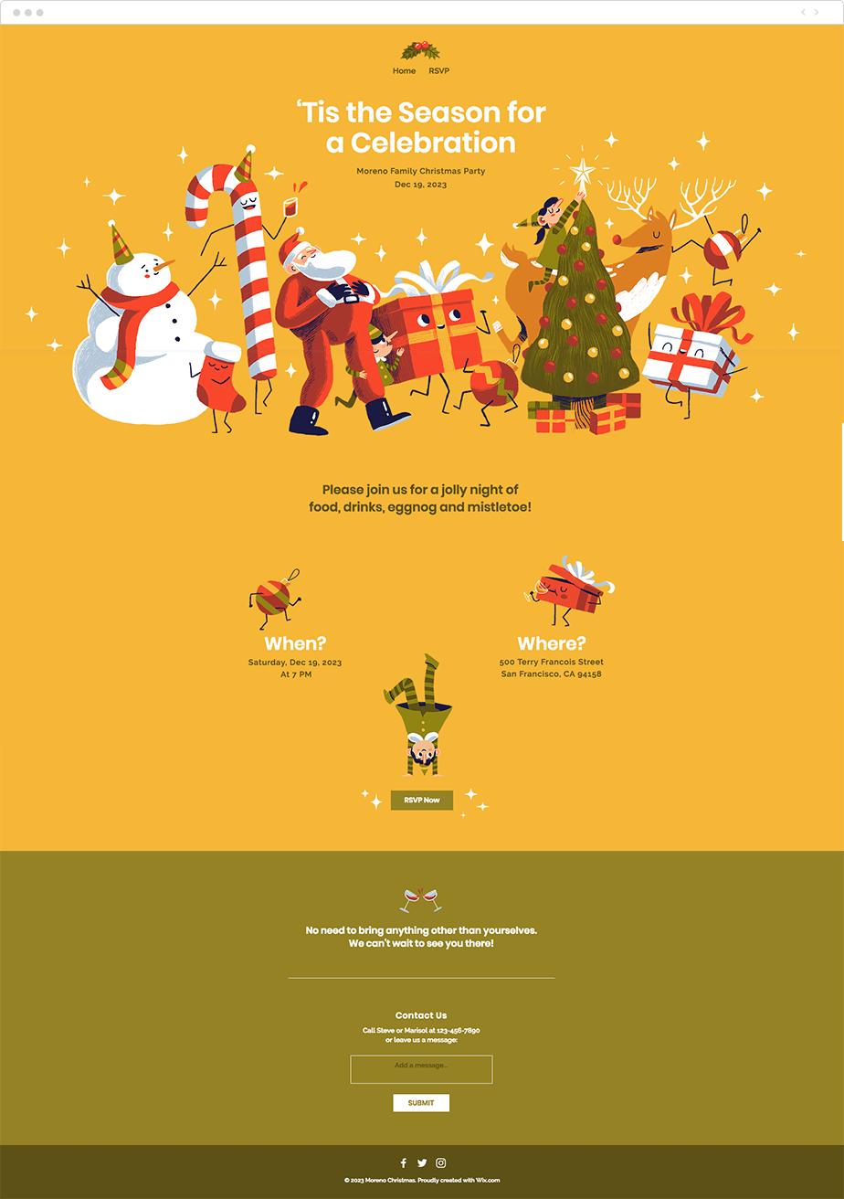 Template para Site de Festas de Natal