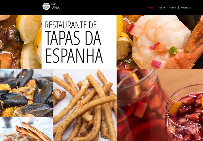 Template Wix - Restaurante de Tapas