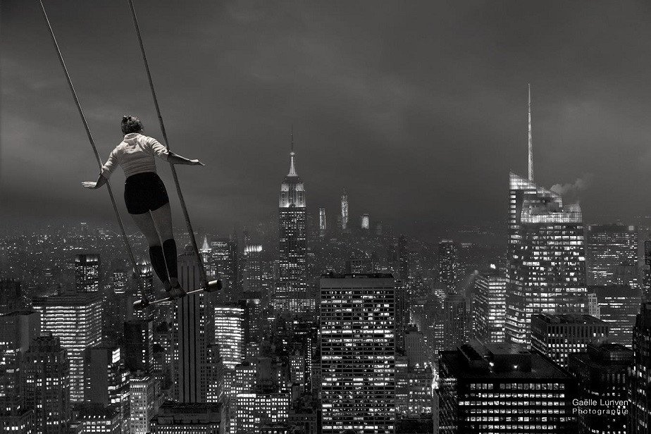 Black and white travel photography of New York by Wix Photographer Gaelle Lunven