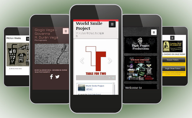 Wixのモバイルサイトがスマートフォン表示に対応