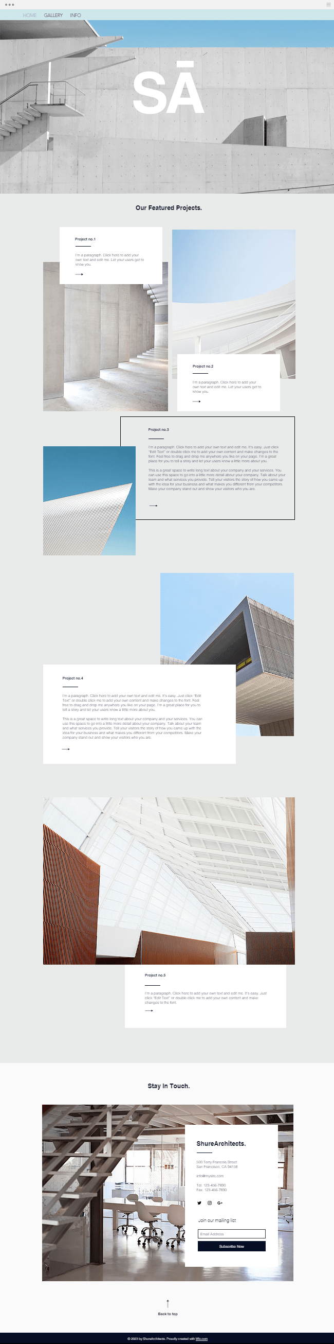 Architecture Firm Template | WIX