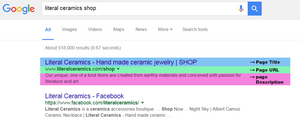 clean URLs search result