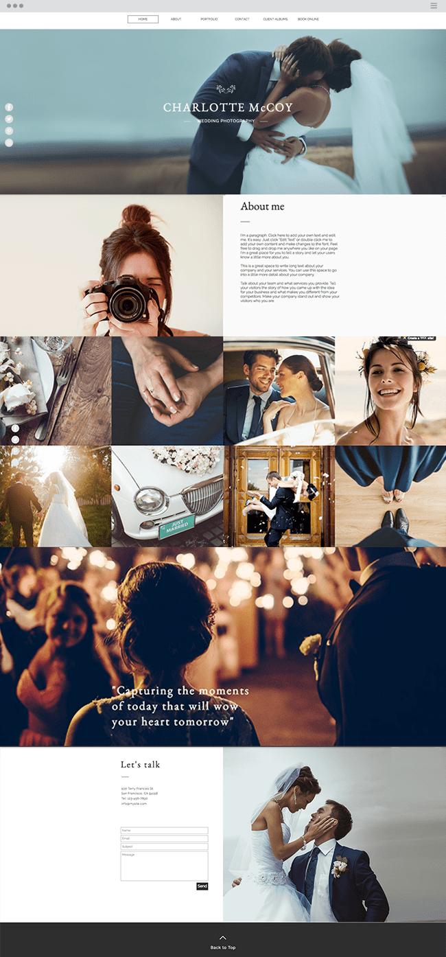 Fotografia de casamento Template | WIX
