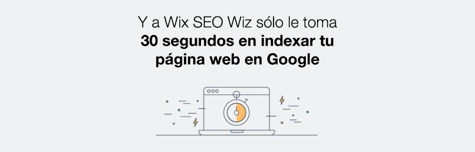 En 30 segundo indexamos tu página web
