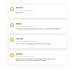 Comentários de usuários do Wix Chat