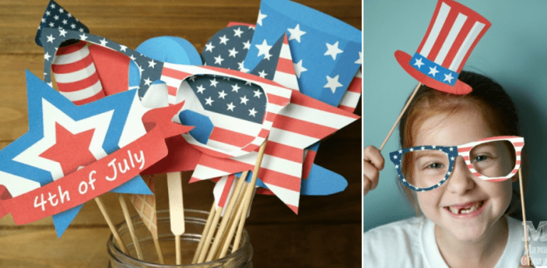 4th of July Printable Photo Props