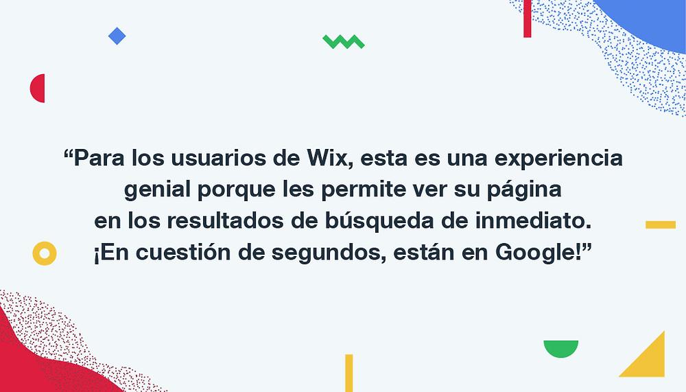 Las webs de Wix indexadas por Google
