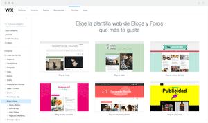 Plantillas para crear un blog con Wix