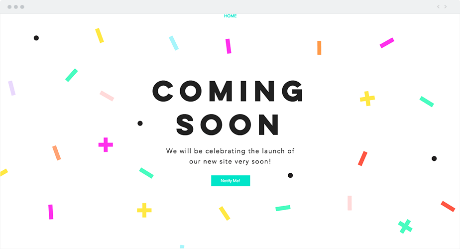Wix Template - Celebration Coming Soon