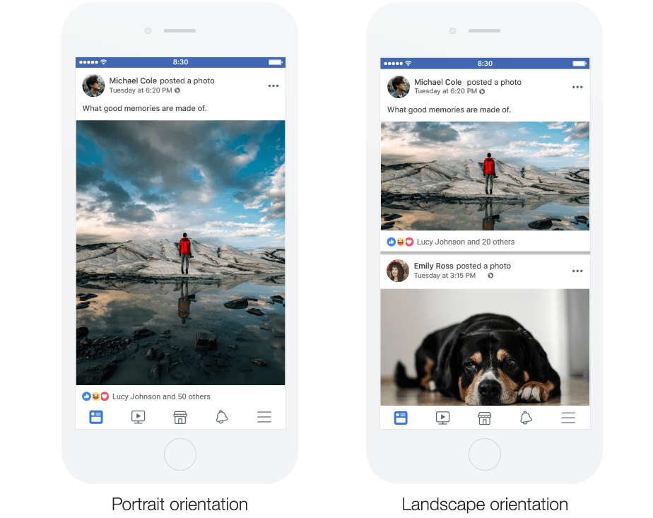 Image orientation: Facebook Updates 2018