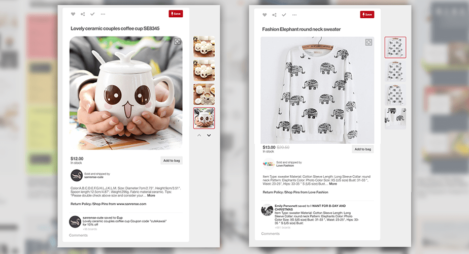 Increase sales with Pinterest pins