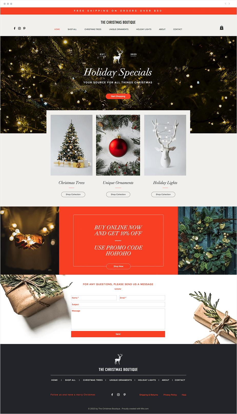 Ofrece ofertas de Navidad