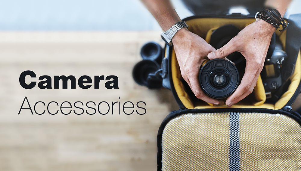 camera bag full of gear seen from above