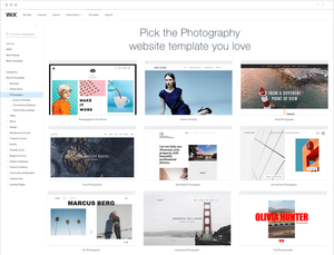 photography website templates for all genres