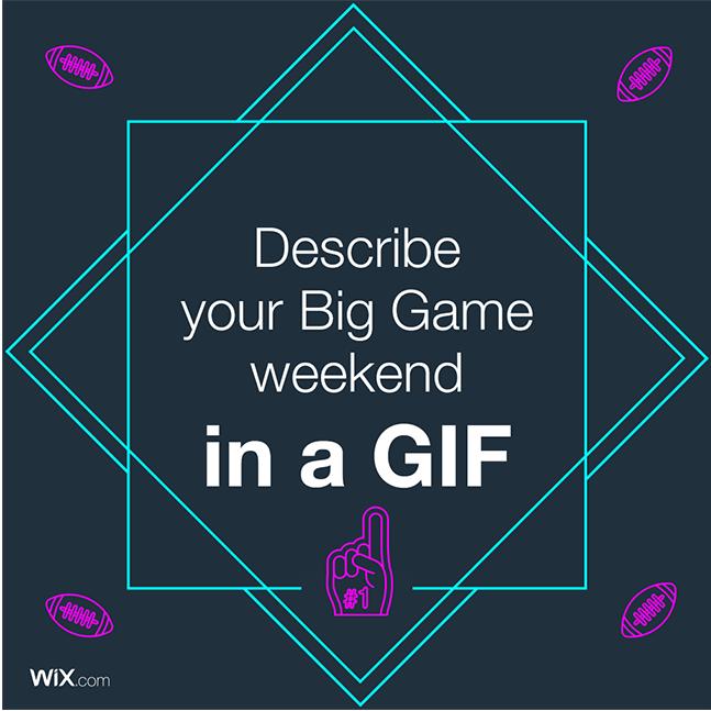 Wix social ideas: describe X in a GIF
