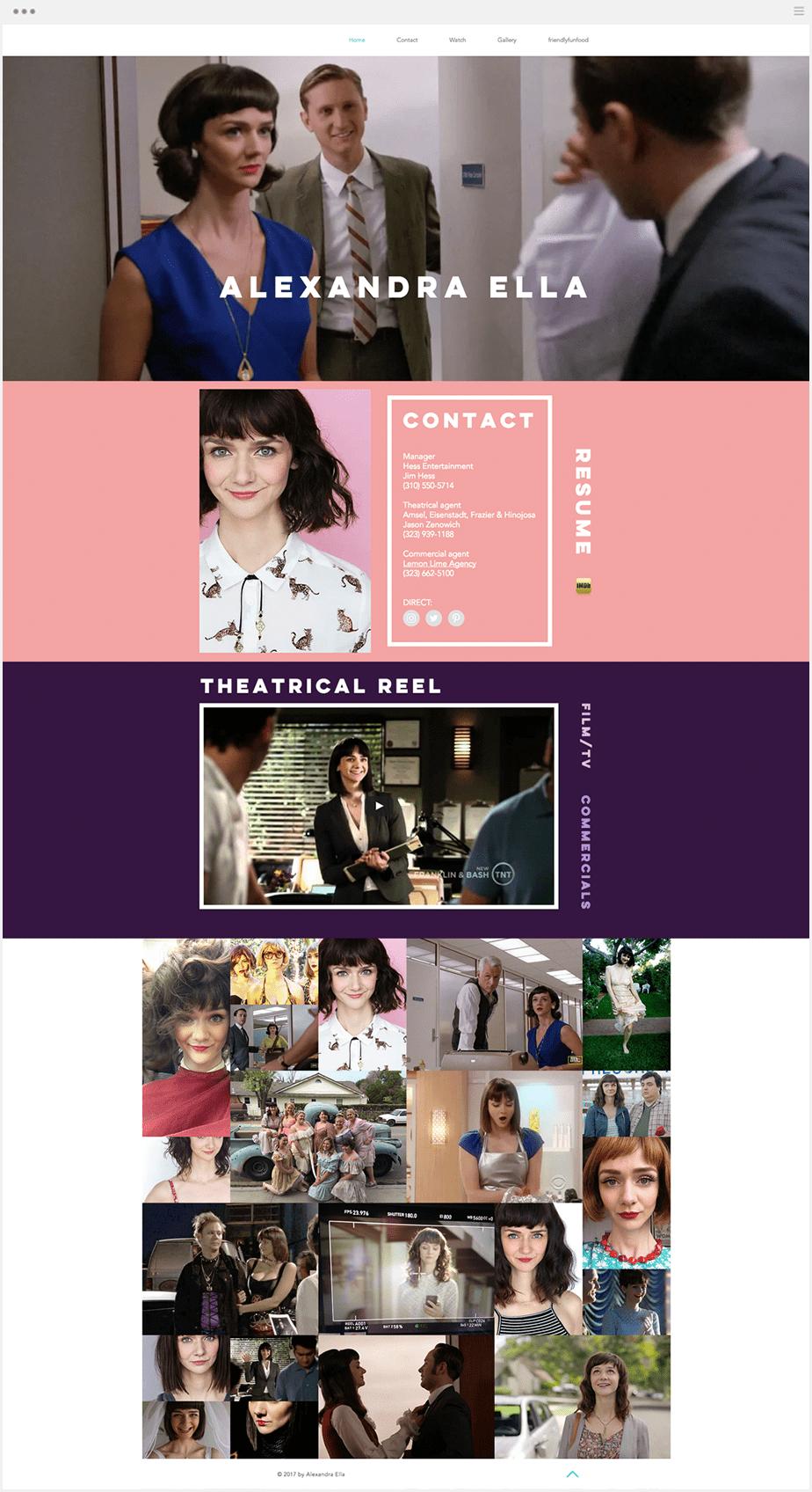 アメリカのTVドラマ女優, Wixサイト
