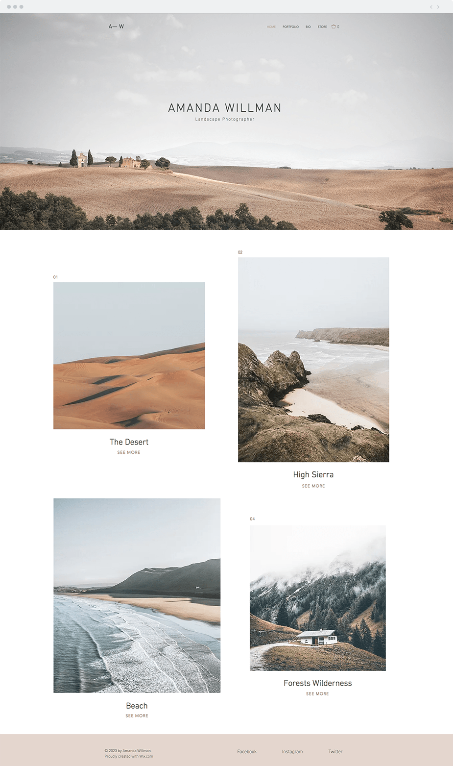 Landscape Photography template