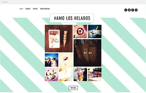 Feed de Instagram en una web