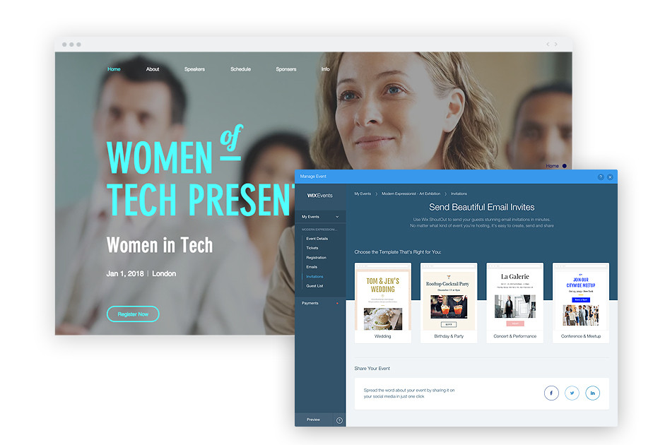 Wix Events: Send Beautiful Email Invites