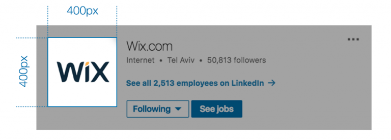 LinkedIn create a company page and add your professional logo