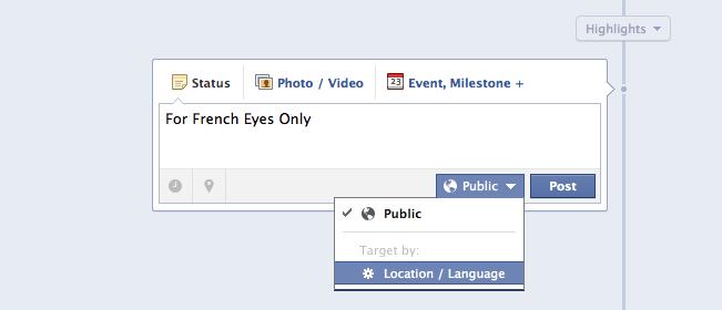 Language/ Geo-targeting your Facebook fans