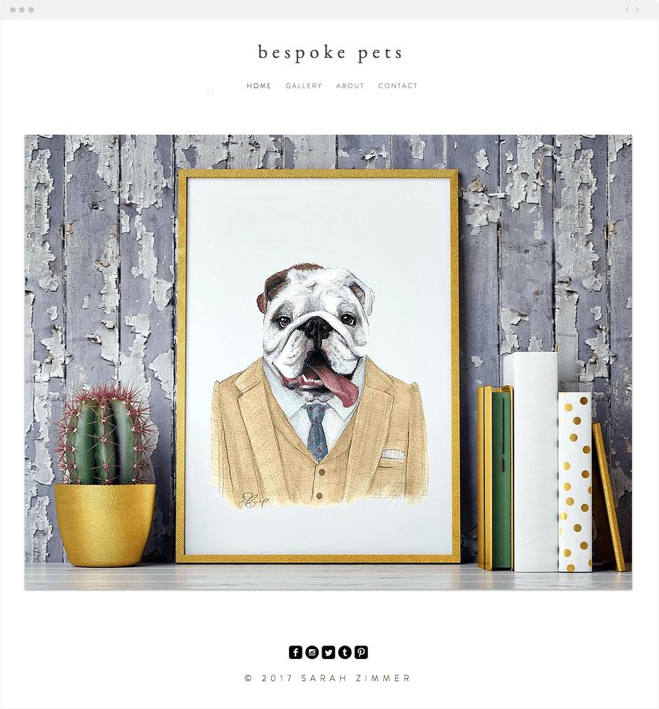Site Wix do Bespoke Pets