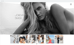 Site Wix da Modelo Jordan Simek
