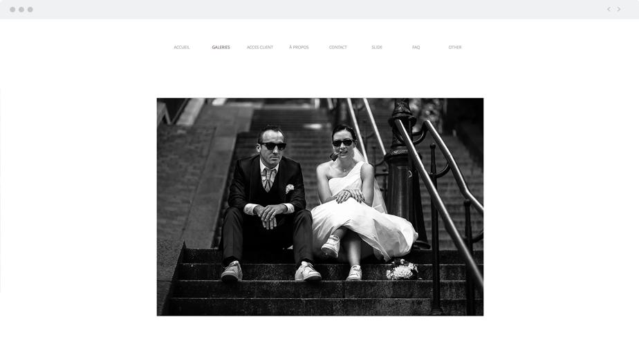 Beautiful Wix photography website by wedding photographer Frederick Lejeune