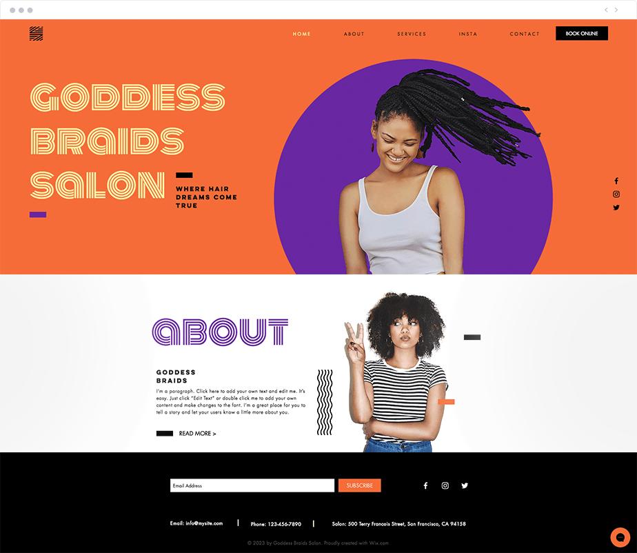 Plantillas Web para negocios de belleza