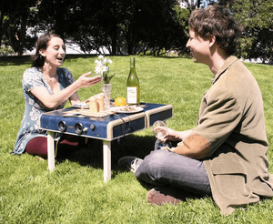Suitcase picnic table labor day ideas