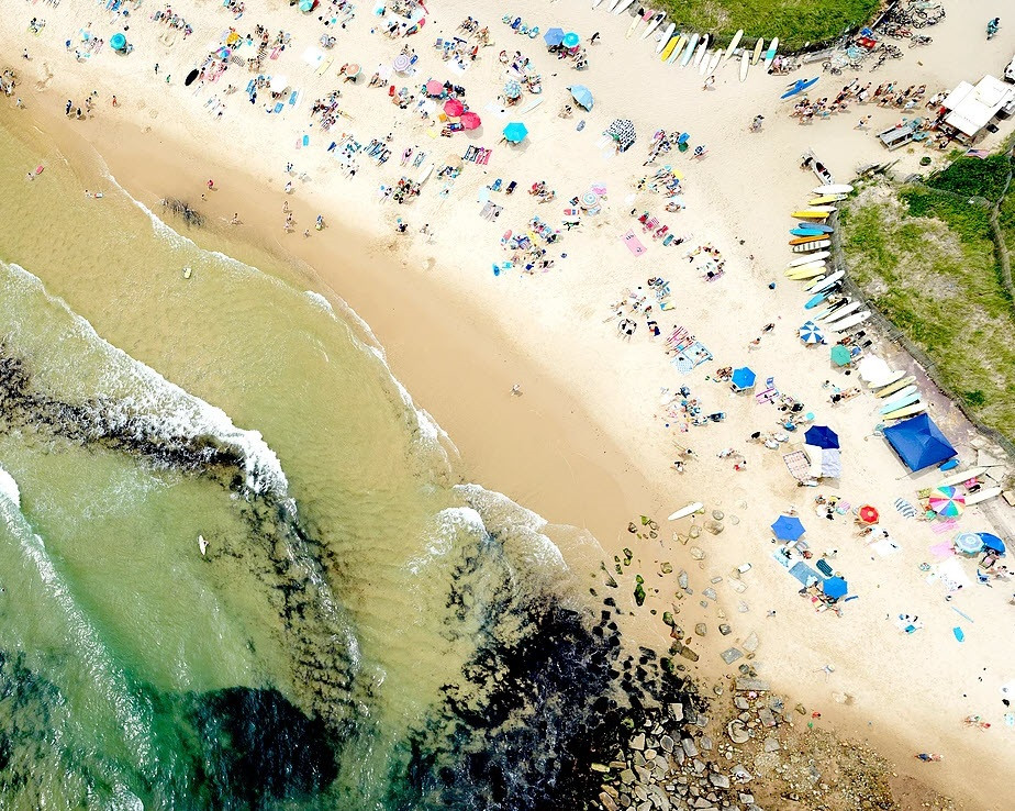 Aerial picture of Montauk beach by Wix Photographer Joshua Jensen-Nagle