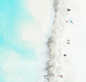 white sand beach aerial view