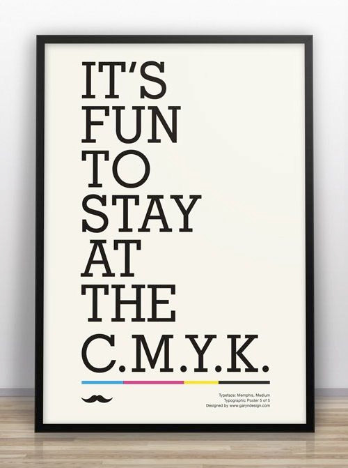 It's fun to stay at the C.M.Y.K.
