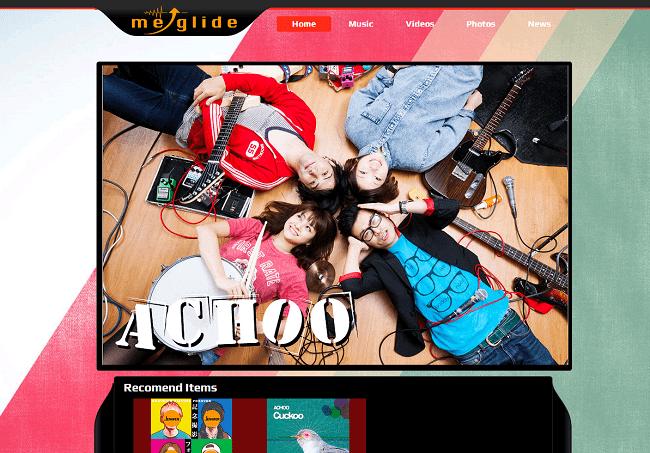 ミュージシャンのWixサイト
