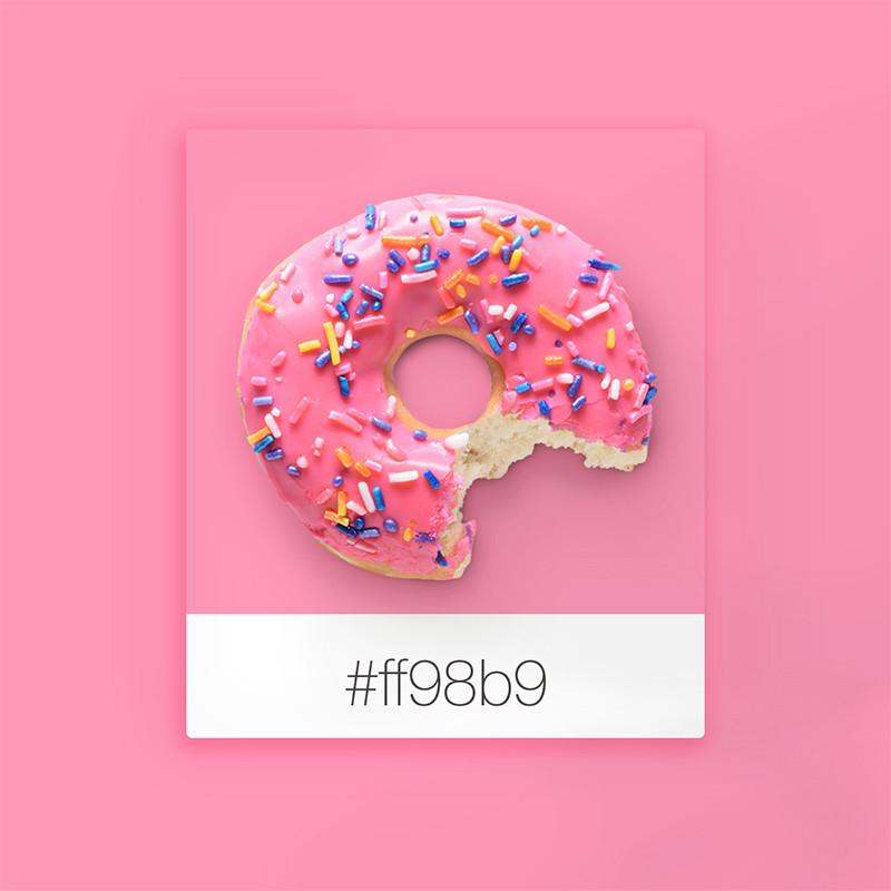 Wix Pinterest color inspiration: pink donut