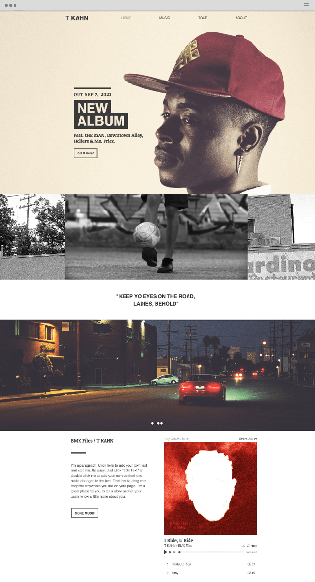 Hip Hop Artist Website Template