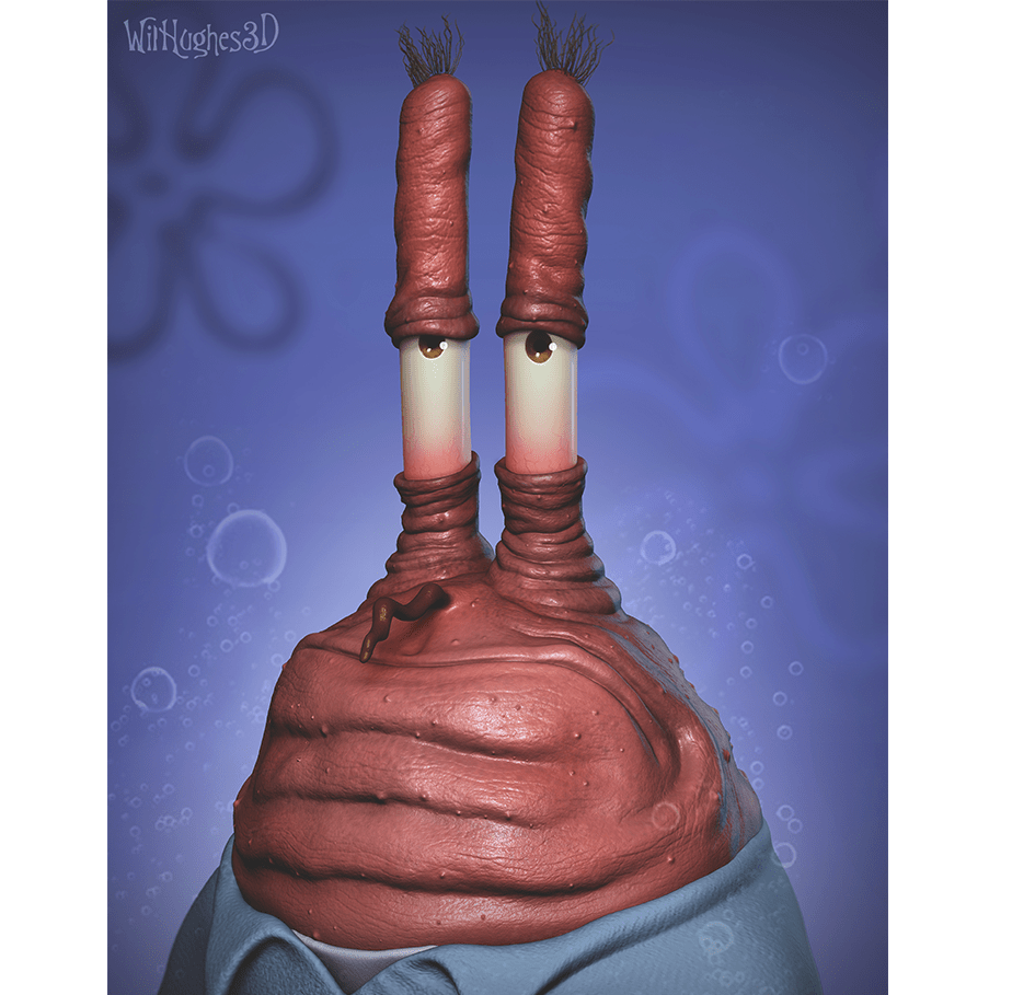 Horror Version of Mr. Krabs by Wix User Wil Hughes