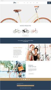 Template Wix Loja de Bicicleta