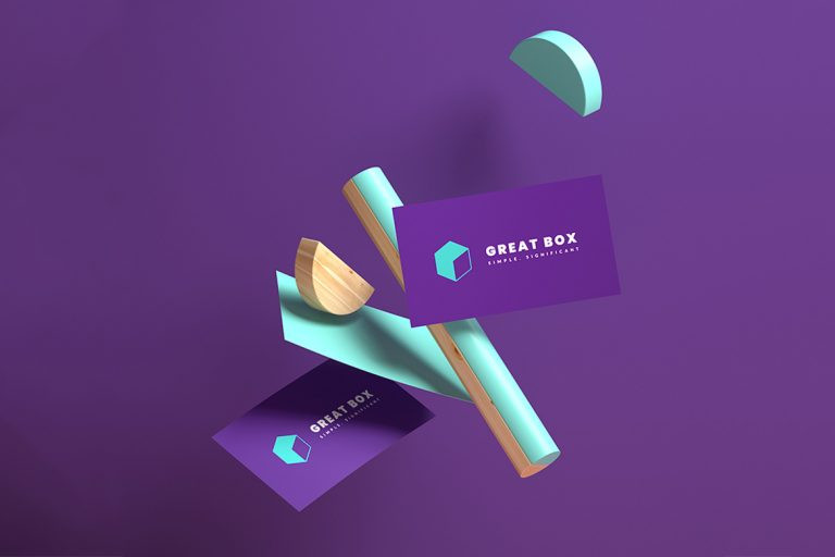 Business cards and logo contribute to the visual language of your brand