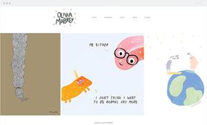 Site Wix da Olivia Marbey