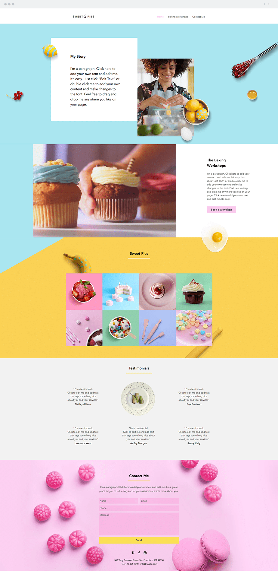 Wix Template - Baking Workshop