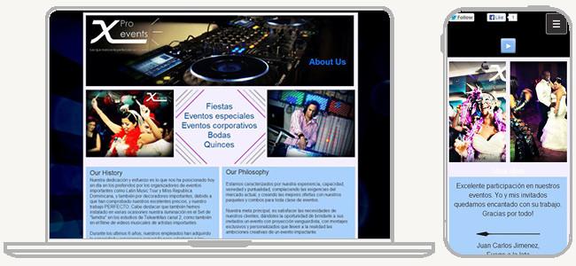 X Pro Events のWixサイト