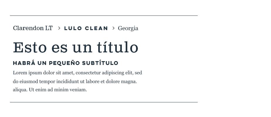 Clarendon LT, Lulo Clean & Georgia