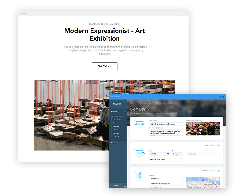 Wix Events: Detail Page