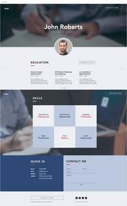 bPlantilla para página web de CV de negocios