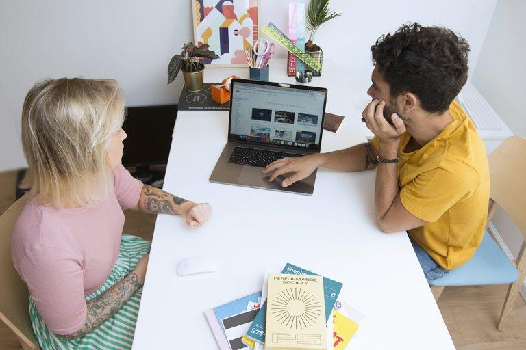 Freelance designers at work