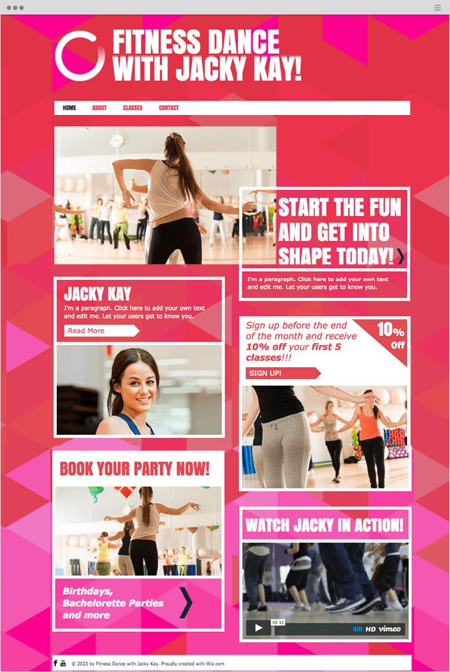 Dance Instructor Website