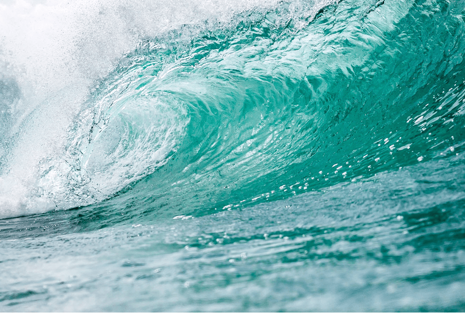 perfect turquoise sea wave