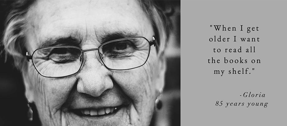 black and white headshot of elderly person